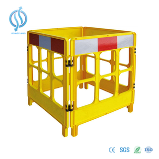 Yellow Traffic Plastic Barrier System