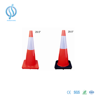 750mm Orange Reflective Cone