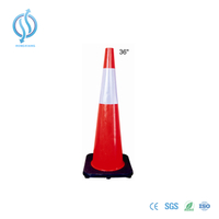 90cm Traffic Cone with Black Base